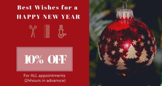 Christmas Beauty Appointments.Marchbig